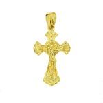 Pandantiv cruce cu Isus placat cu aur