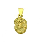 Pandantiv medalion cu chipul lui Isus Christos placat cu aur