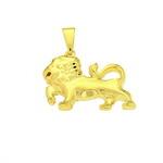 Pandantiv zodie leu placat cu aur