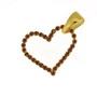 Pandantiv inima placat cu aur cu pietre mov