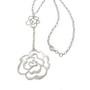 Colier din argint cu medalioane floare