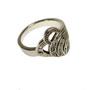 Inel din argint decorat cu marcasite