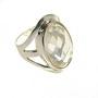 Inel din argint decorat cu zirconiu alb multifatetat