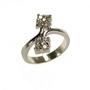 Inel din argint decorat cu zirconiu cubic alb