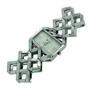 Ceas quartz de dama GenCrown cu bratara metalica si carcasa dreptunghiulara