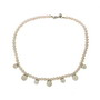 Colier din perle de cultura albe cu bile de argint