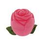 Cutie bijuterii trandafir catifea roz pentru cercei, pandantiv sau brosa