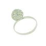 Inel din argint cu cristale Swarovski albe sub forma de sfera