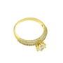 Inel de logodna placat cu aur cu pietre zirconiu alb