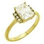 Inel placat cu aur cu pietre zirconiu alb