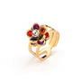 Inel placat cu aur cu pietre zirconiu multicolorate