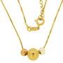 Lantisor placat cu aur cu trei bilute placate cu aur de culori diferite