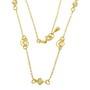 Lant placat cu aur cu perle de culoarea sampaniei in colivie si elemente  melc