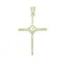 Pandantiv cruce cu Isus placat cu argint