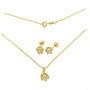 Set placat cu aur cu perle culoarea sampaniei in colivie