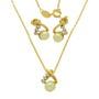 Set placat cu aur cu perle de culoarea sampaniei